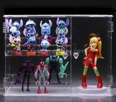 Clear acrylic toys display cases