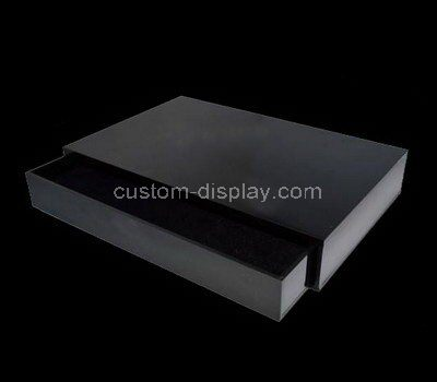 Black acrylic drawer storage box