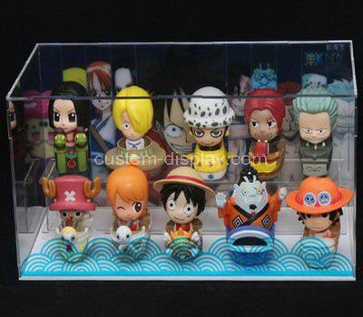 2 tiered clear acrylic toys display box