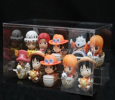 Clear acrylic small figures display box