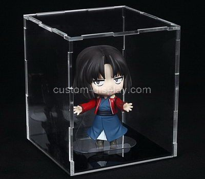 Clear acrylic small figure display case