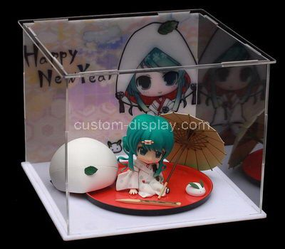 Clear acrylic small figure display box