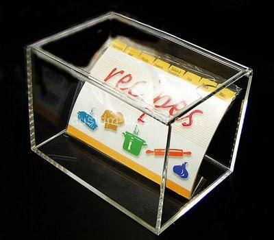 Custom clear acrylic storage box