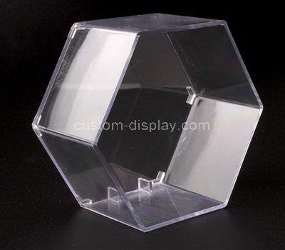 Custom clear acrylic hexagon display case