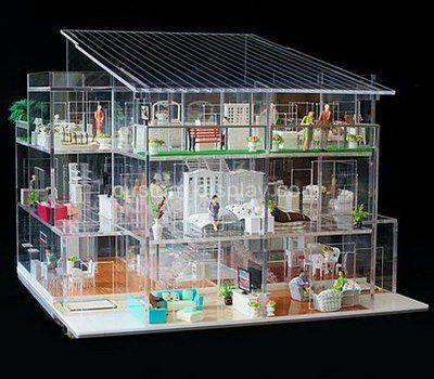 Custom clear acrylic model building display cabinet