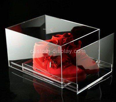 Custom clear acrylic shoe display drawer box