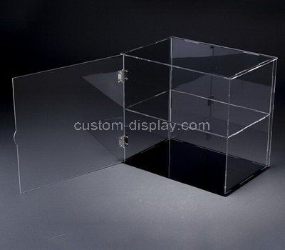 Custom clear acrylic display case with door
