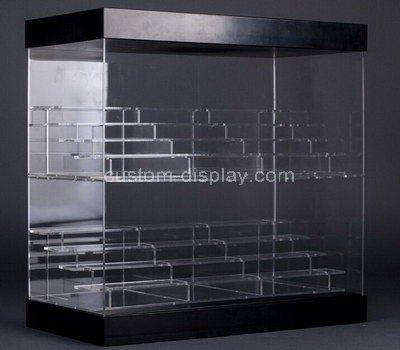 Custom clear acrylic multi tiered display cabinet