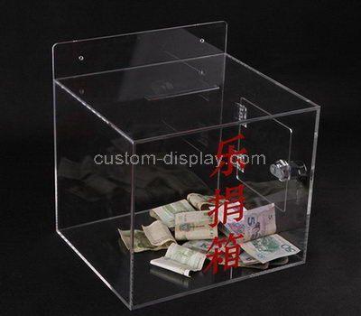 Custom clear acrylic charity boxes