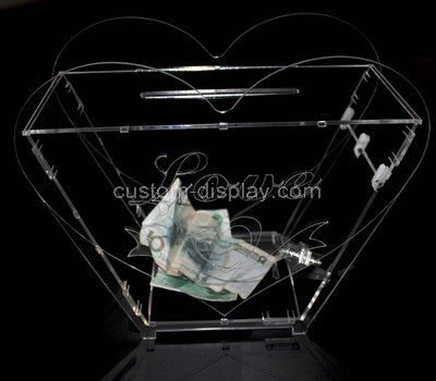 Custom clear acrylic donation box