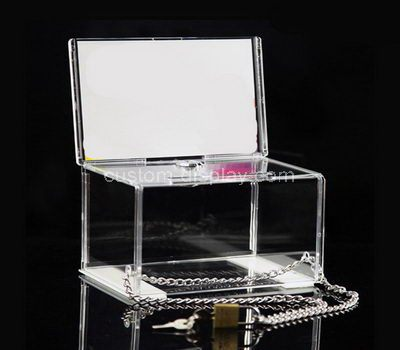 Custom clear acrylic donation box with sign holder