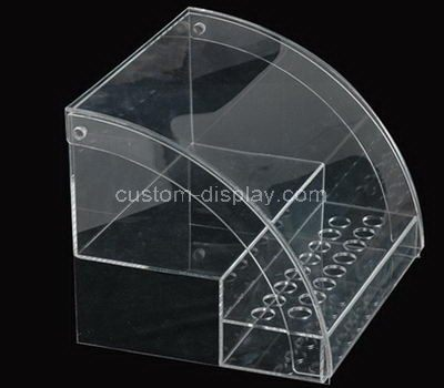 Custom 2 tiered clear acrylic display cabinet