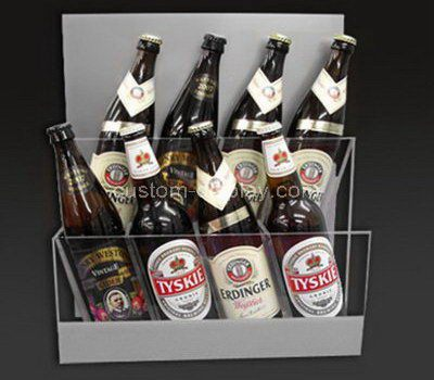Custom counter top acrylic beer bottle display holder