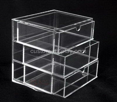 Custom clear acrylic 3 drawers box