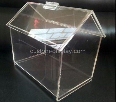 Custom house shape clear acrylic box