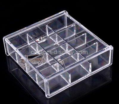 Custom clear acrylic multi grids storage box