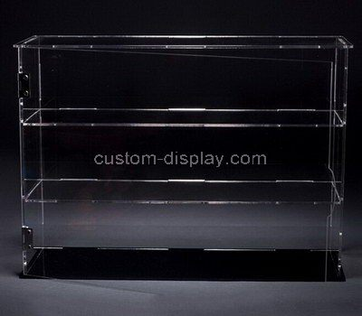 Custom 3 tiered clear acrylic display cabinet