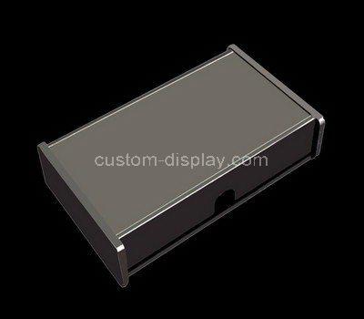 Custom small black acrylic single drawer box