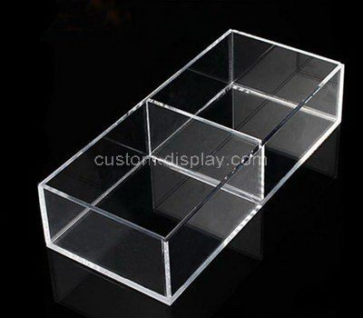 Custom clear acrylic 2 grids storage box