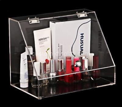 Custom clear acrylic cosmetic organizer box