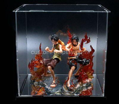 Custom clear acrylic figure display boxes