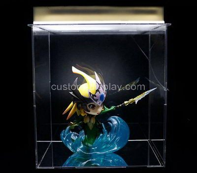Custom design clear acrylic figure display case