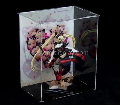 Custom design large clear acrylic figure display case