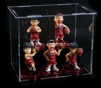Custom design 2 tiered clear acrylic figures display case
