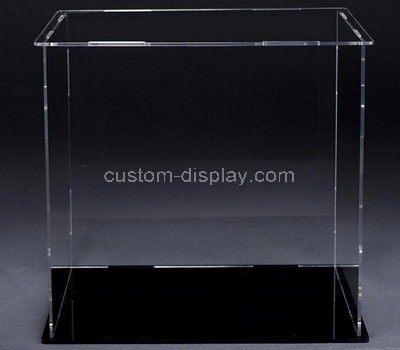 Custom design narrow clear acrylic display case