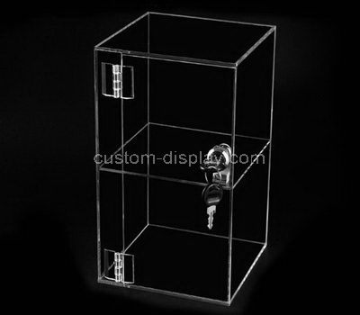 Custom design 2 tired clear acrylic display case