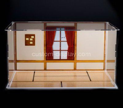 Custom design clear acrylic model house display case
