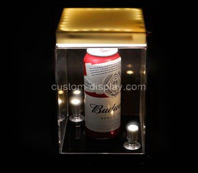 Custom design clear acrylic beer display case