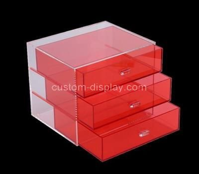 Custom acrylic 3 drawers box
