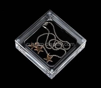 Custom clear acrylic necklace display case