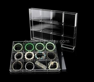 Custom clear acrylic jewellery organizer box