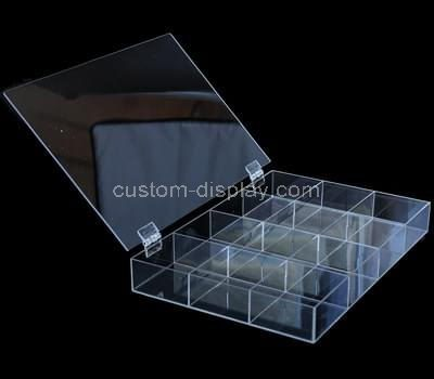 Custom clear acrylic jewelry box