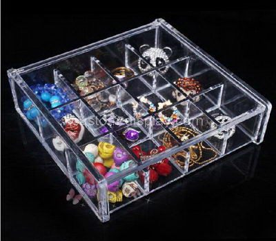 Custom clear acrylic organiser box