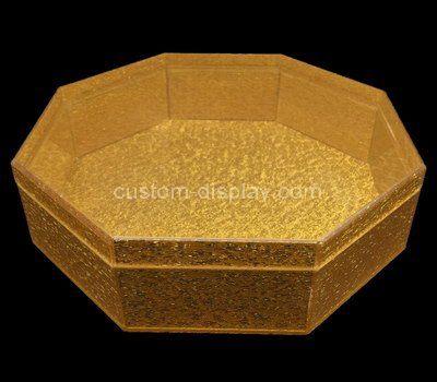 Custom design octagonal acrylic display case
