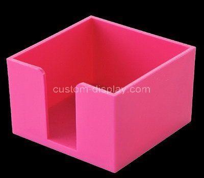 Custom design pink acrylic notepad holder