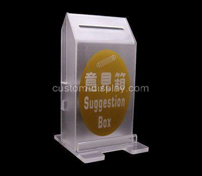 Custom design large acrylic suggestion box