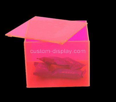 Custom design acrylic snacks storage box