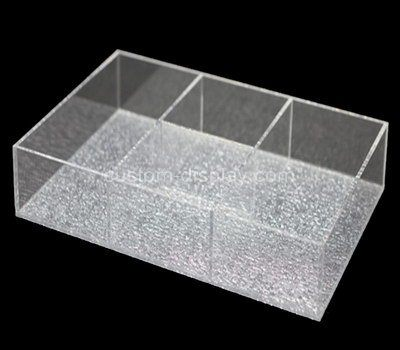 Custom design 3 grids clear acrylic box