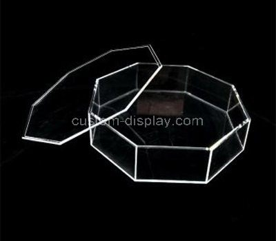 Custom design octagon clear acrylic box