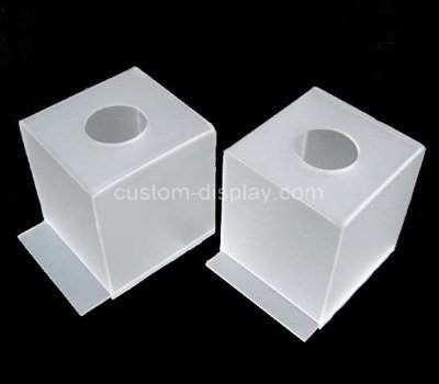 Custom design acrylic tissue paper box