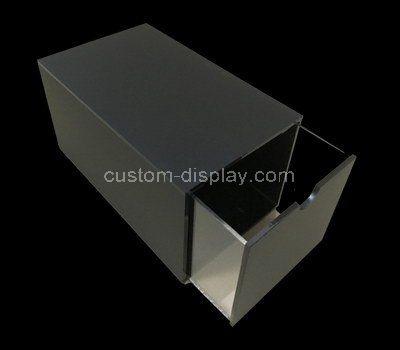 Custom design black acrylic drawer box