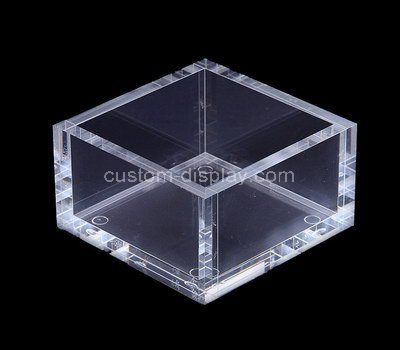 Custom design 5 sided clear acrylic box