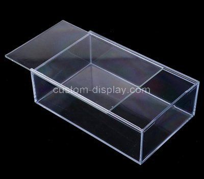 Custom design clear acrylic sliding lid box