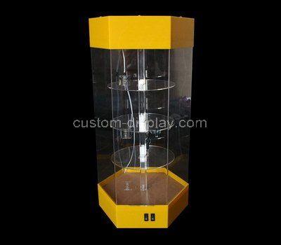 Custom design hexagon acrylic cabinet