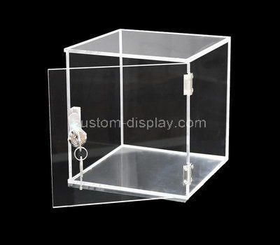 Custom design square acrylic locking box
