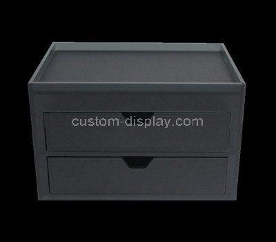 Custom black acrylic 2 drawers box